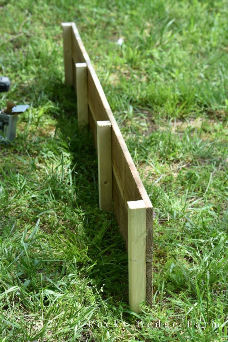 Building Affordable Raised Garden Beds from Cedar Picket Fence | Rocky Hedge Farm