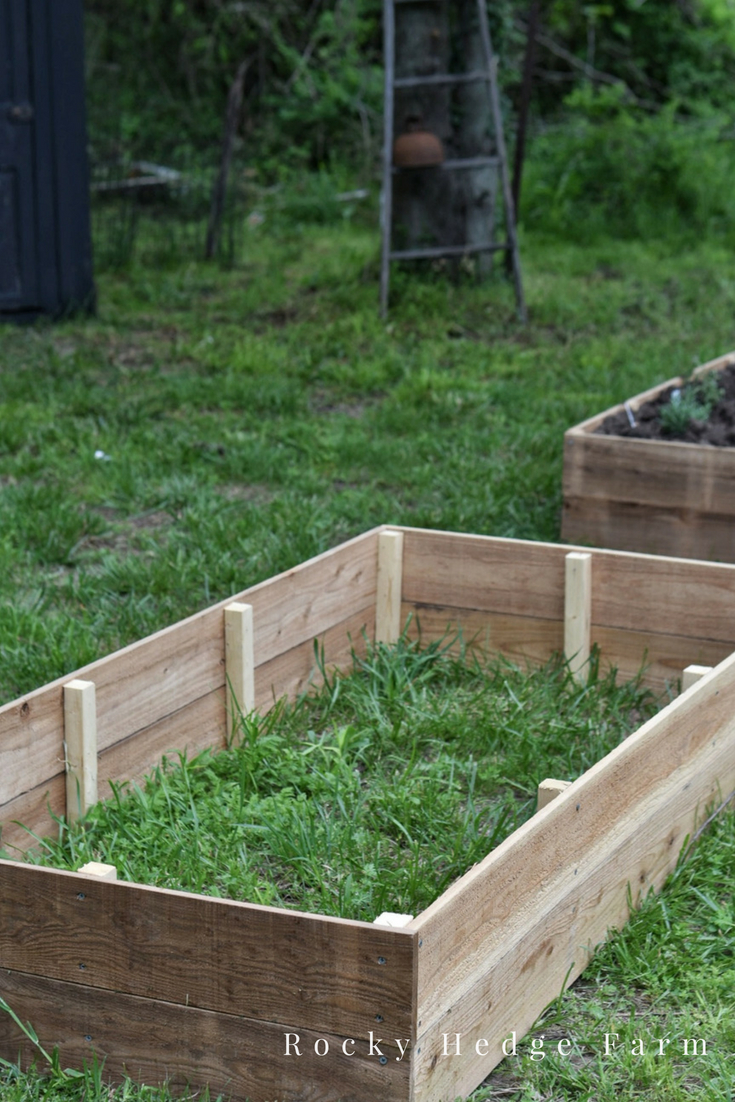Building Raised Garden Beds for Flowers and Vegetables out of Chemical Free Cedar | Rocky Hedge Farm