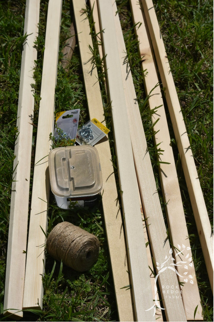 How To Build a String Trellis for the Tomatoes in a Vegetable Garden