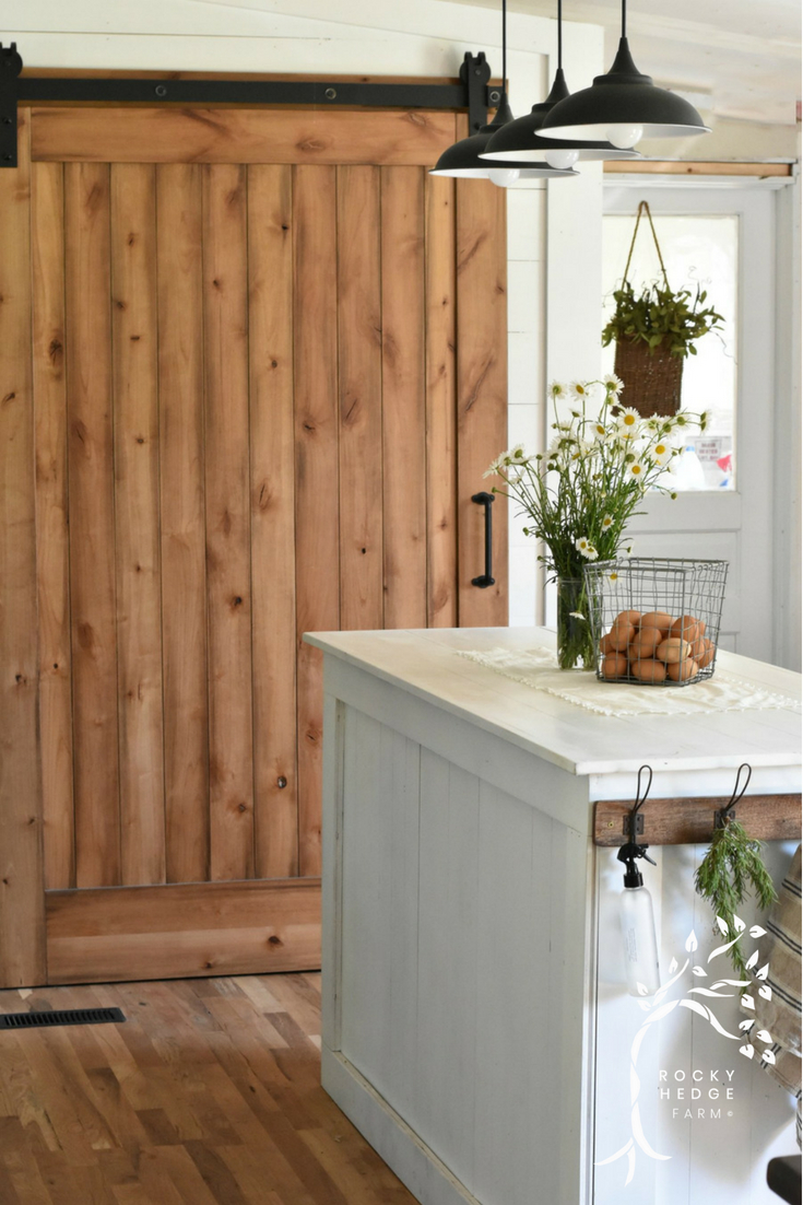Simple Farmhouse Sliding Pantry Barn Door