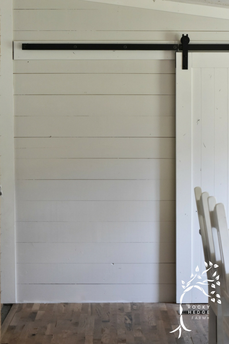 Simple Farmhouse Style Sliding Barn Door