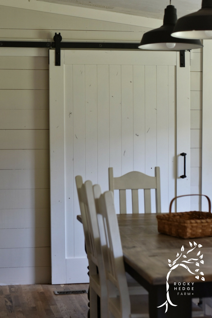 Benjamin Moore Pale Oak on the wall and White Dove trim