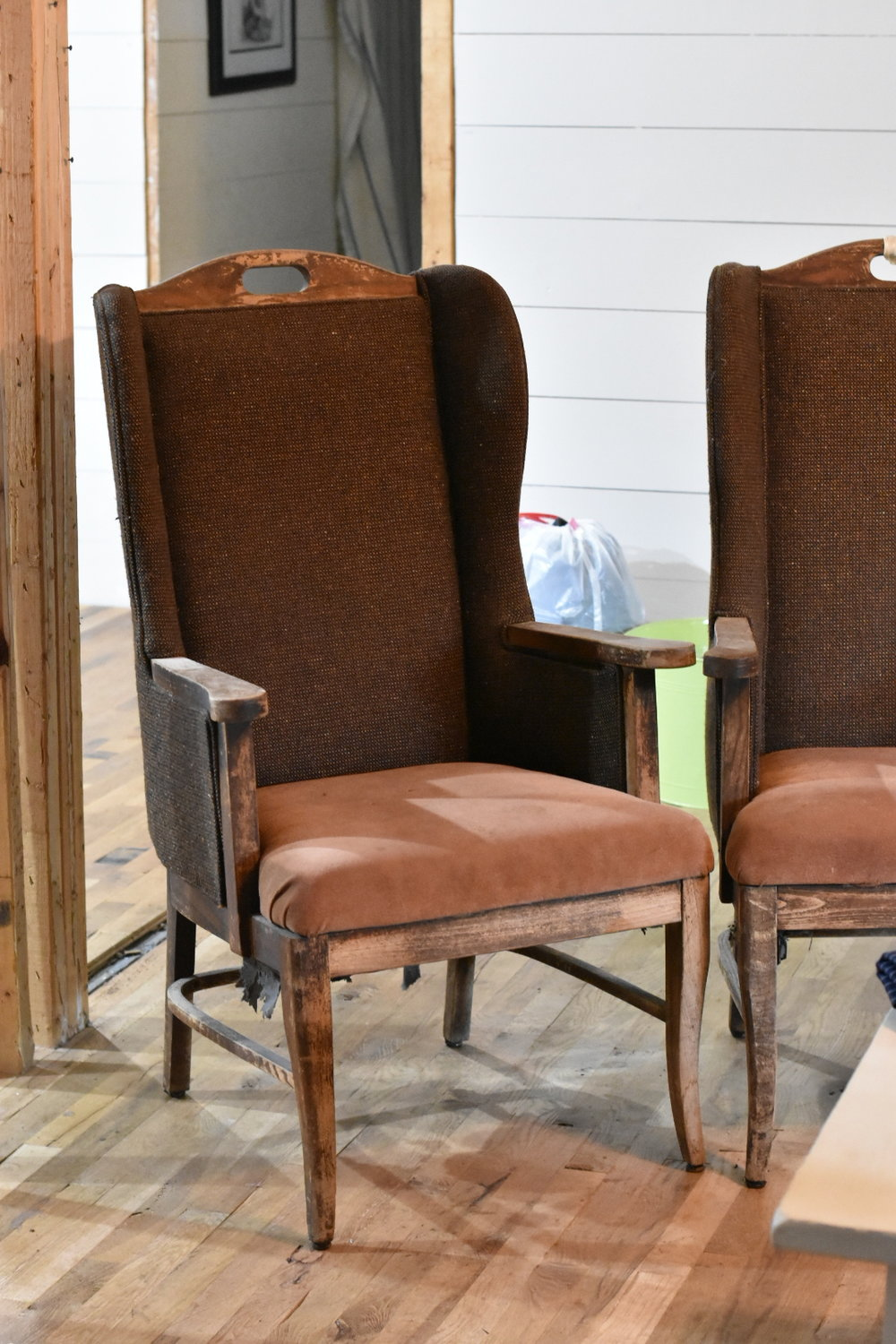 DIY Deconstructed Wing Back Chair