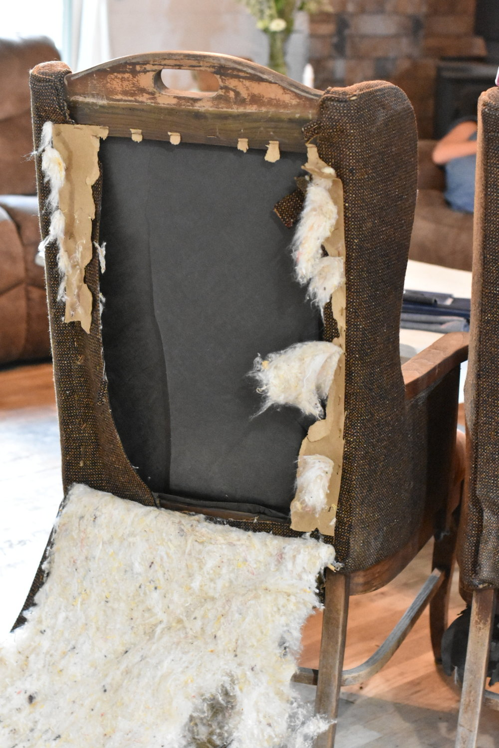 How to Deconstruct a Wingback Chair