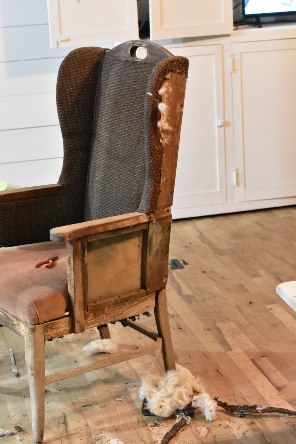 Wing Back Chair Deconstruction
