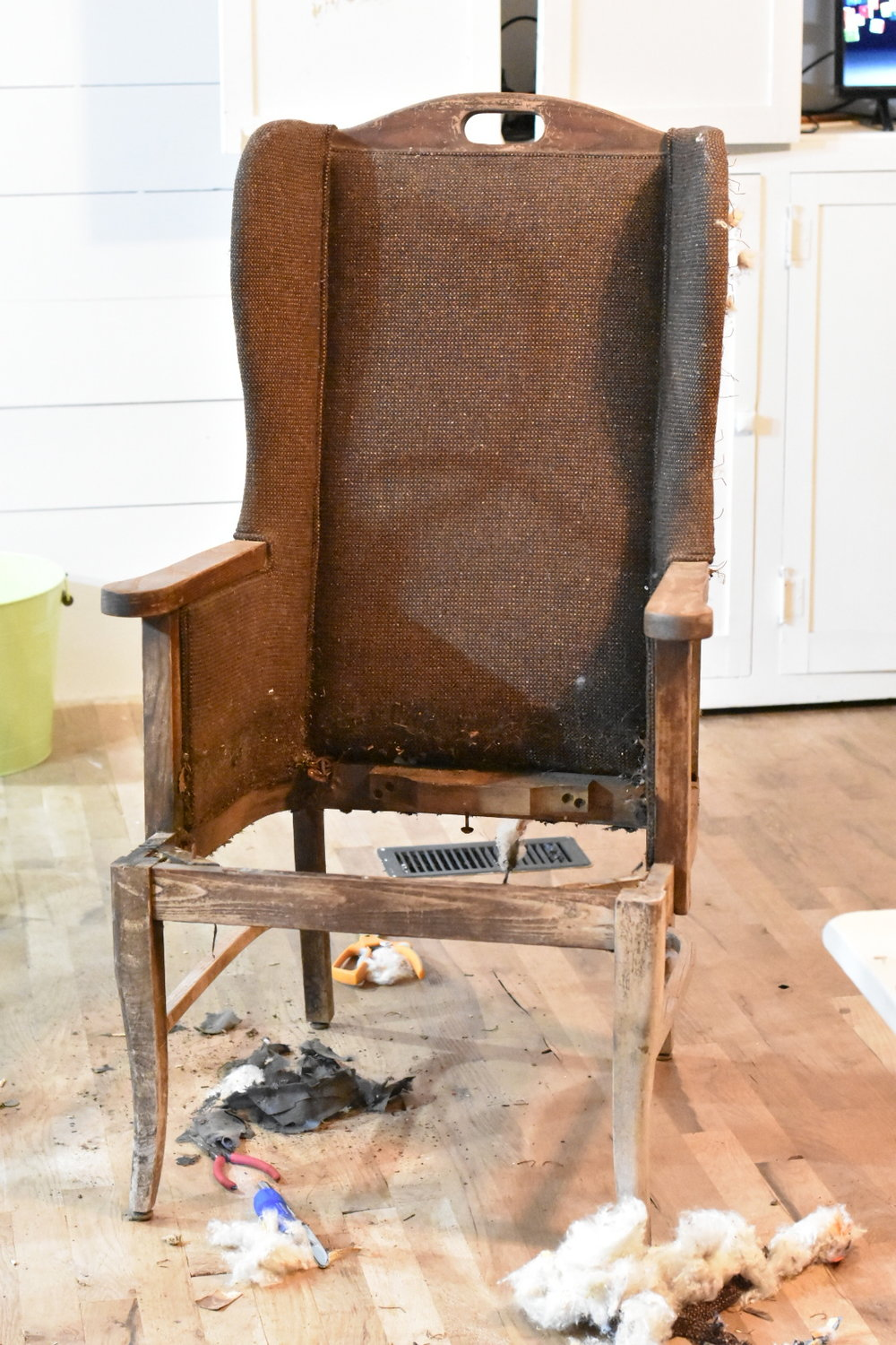 Deconstructed Wing Back Chair
