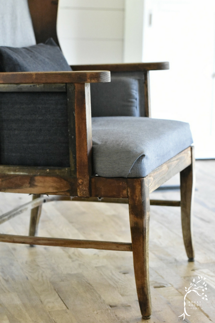 Wing Back Chair that has been Deconstructed