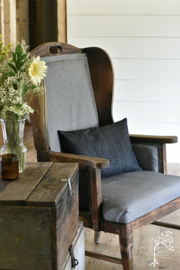Wing Back Chair Deconstruction Make Over
