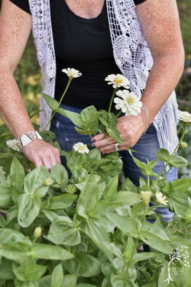 Zinnias: the easiest flower to grow for a cut flower garden. #summerblooms #cutflowergarden #flowergarden #annualblooms