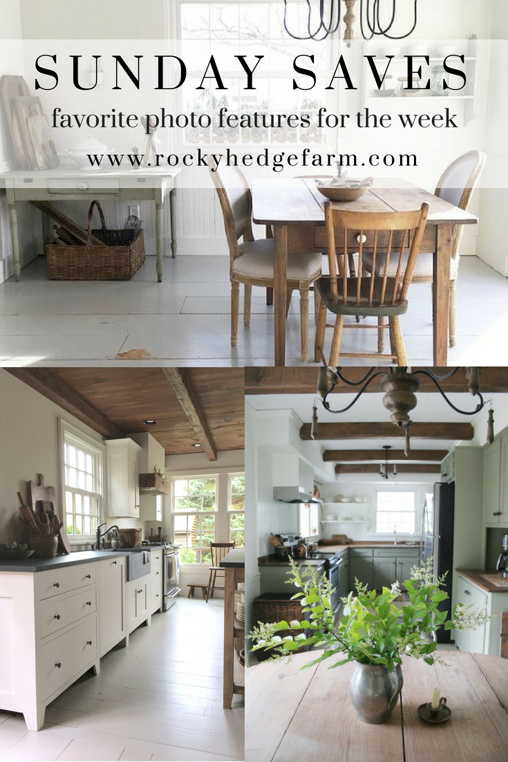 Sunday Saves featuring farmhouse style images from Rocky Hedge Farm #farmhouseliving #farmhouseroom #farmhousestyle #farmhousesimple