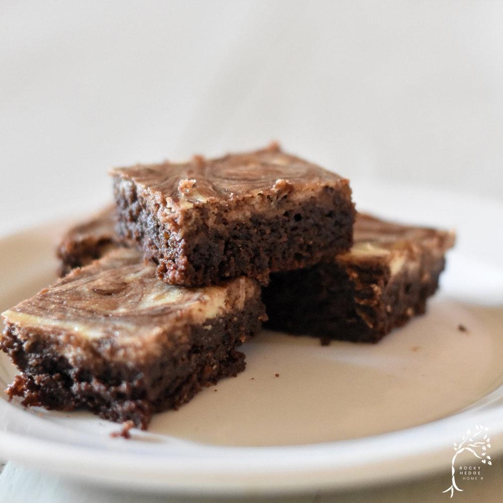 Fudgy Cream Cheese Swirl Brownies - Keto, Paleo, Sugar Free, Flourless, Gluten Free Brownies