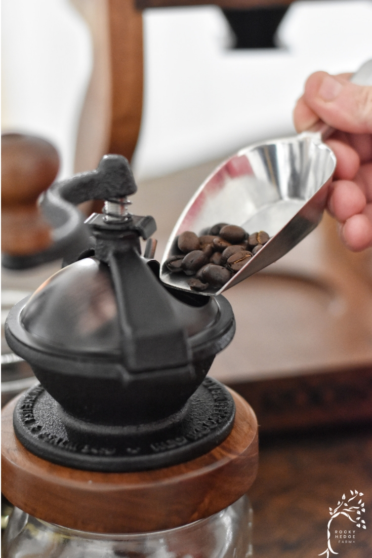 Replacing paper coffee filters and grinding your own beans is a great first step in learning to enjoy zero waste coffee for a more sustainable life.