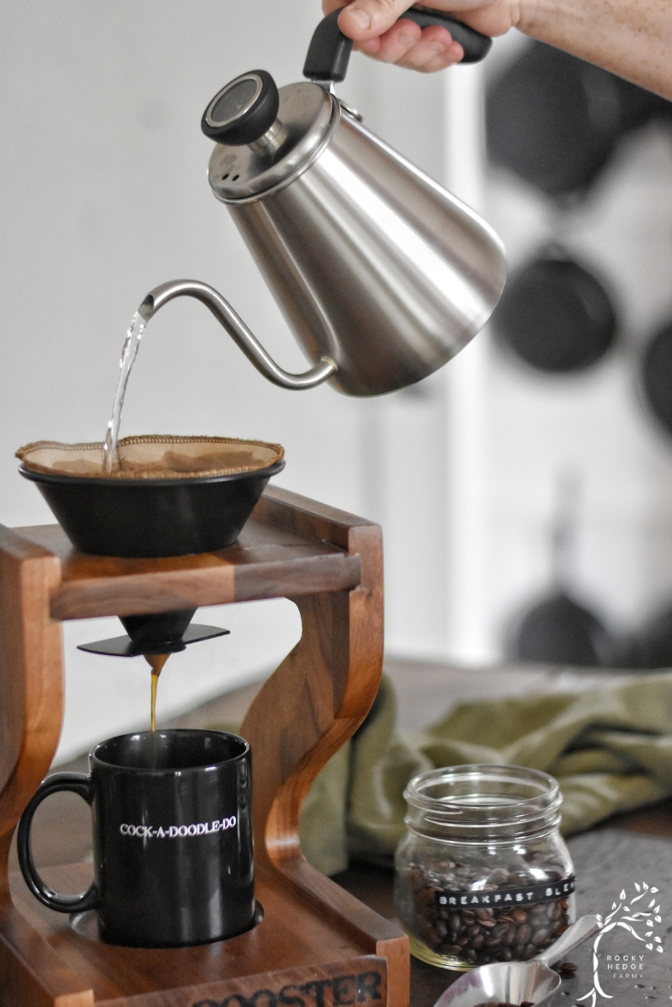 Pour Over Coffee for Slow Sustainable Zero Waste Coffee