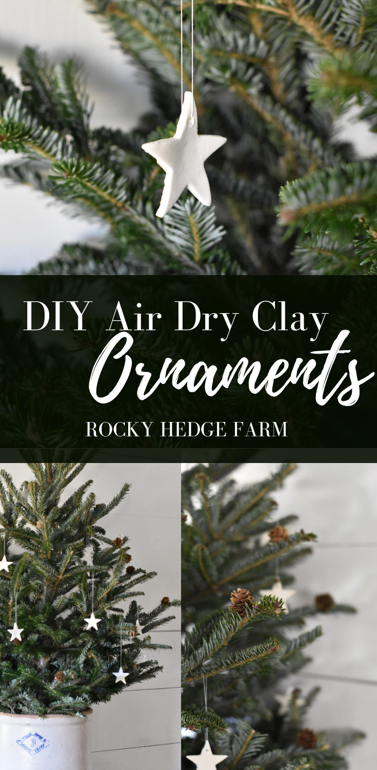 How to Make Air Dry Clay Ornaments that are simple and easy for a Homemade Holiday Season