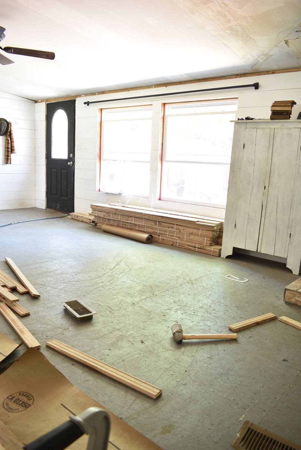Manufactured Home Remodel - adding hardwood floors to a manufactured home