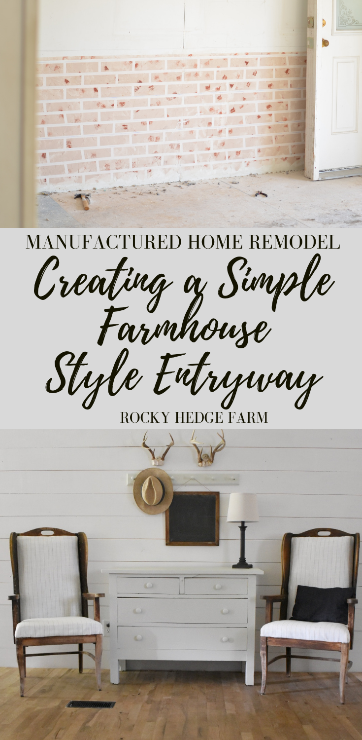 Simple Farmhouse Style Entryway in a Manufactured  Home - Rocky Hedge Farm