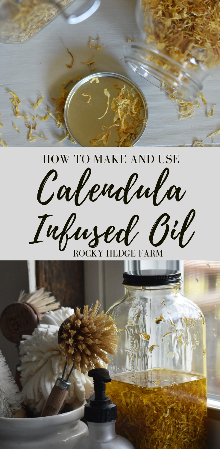 How to Make and Use Calendula Infused Oil