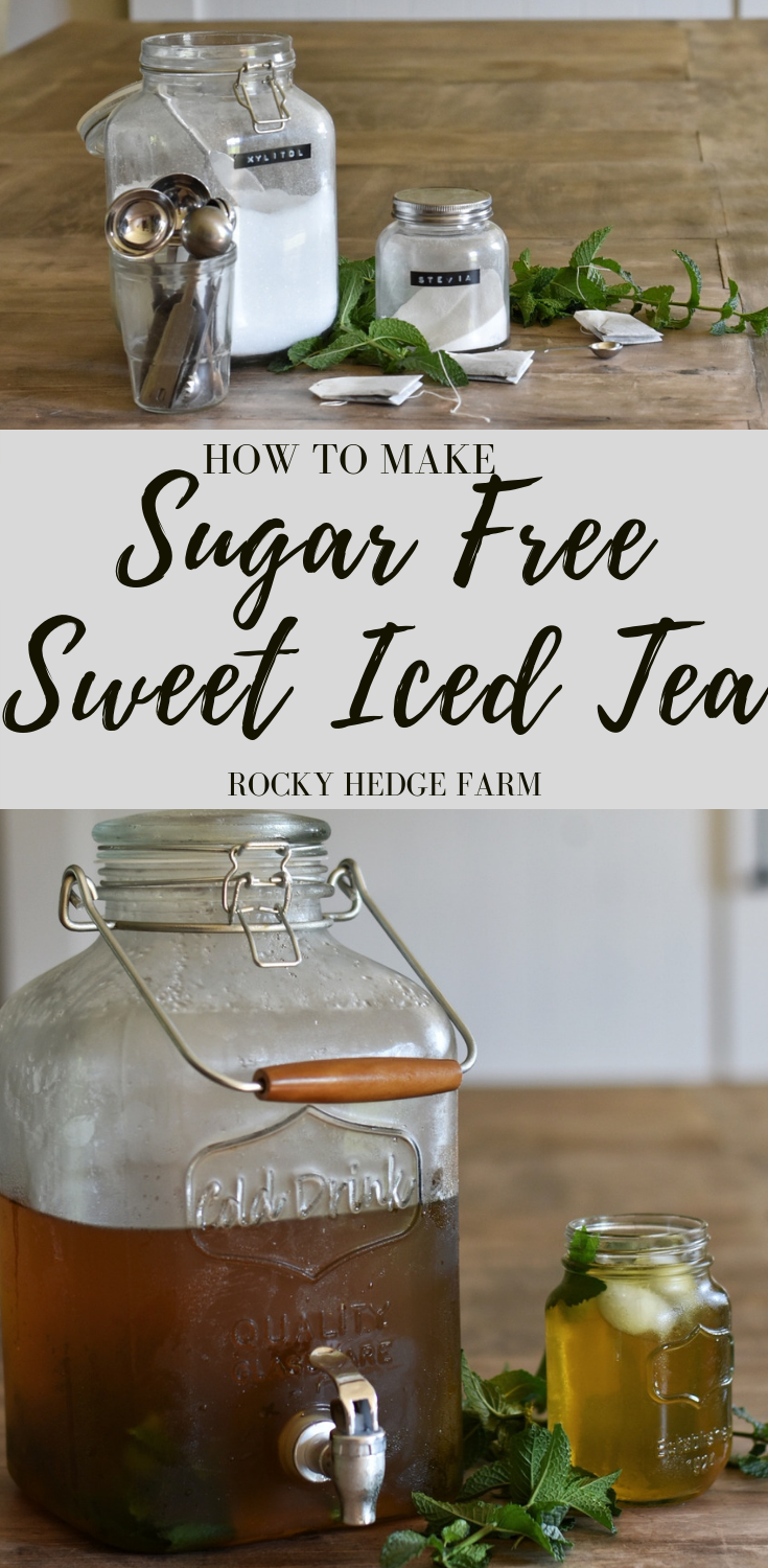 How to make sugar free sweet tea