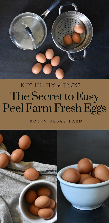 How to Easily and Quickly Peel Farm Fresh Hard Boiled Farm Fresh Eggs