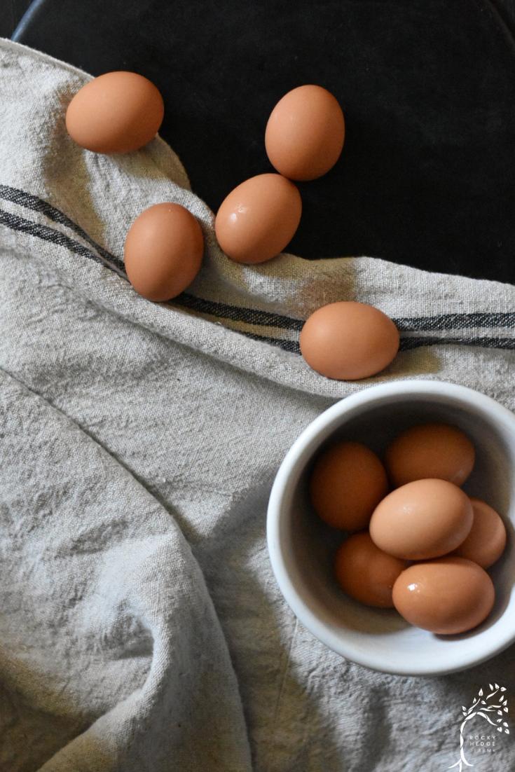 easy peel farm fresh hard boiled brown eggs