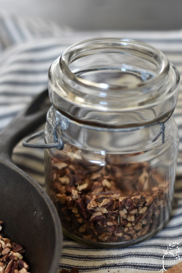 Stove top roasted Pecans