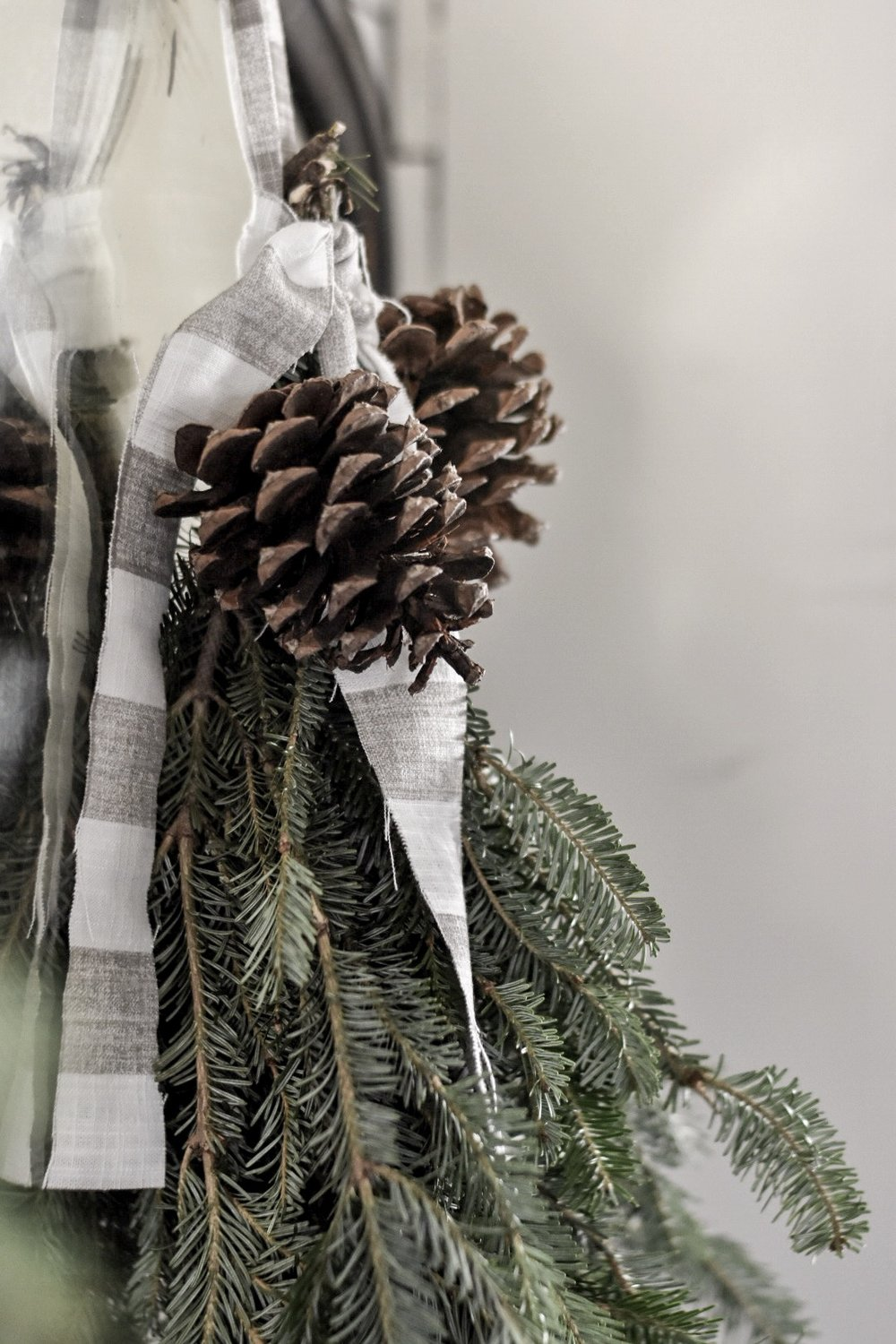 Gathered and Foraged Evergreen Christmas Swag - Rocky Hedge Farm