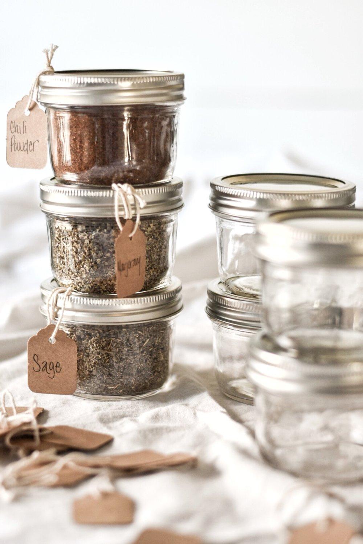 Mason jar Spice Storage and Organization Ideas | Rocky Hedge Farm