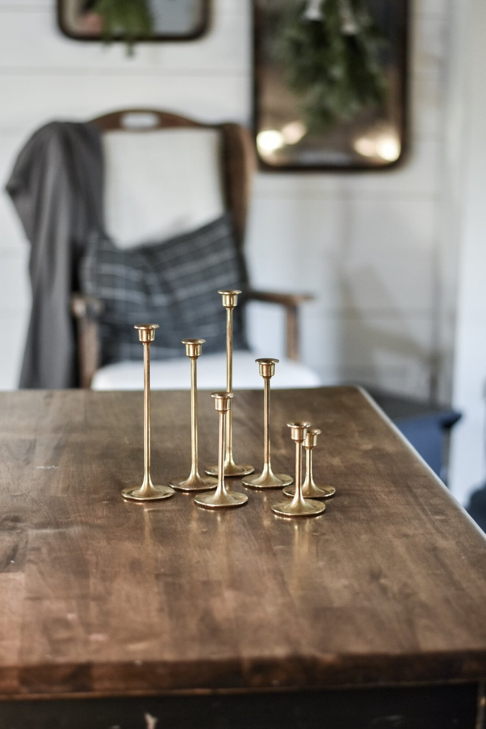 DIY Brass Candlestick Makeover from the Thrift Store - Rocky Hedge Farm