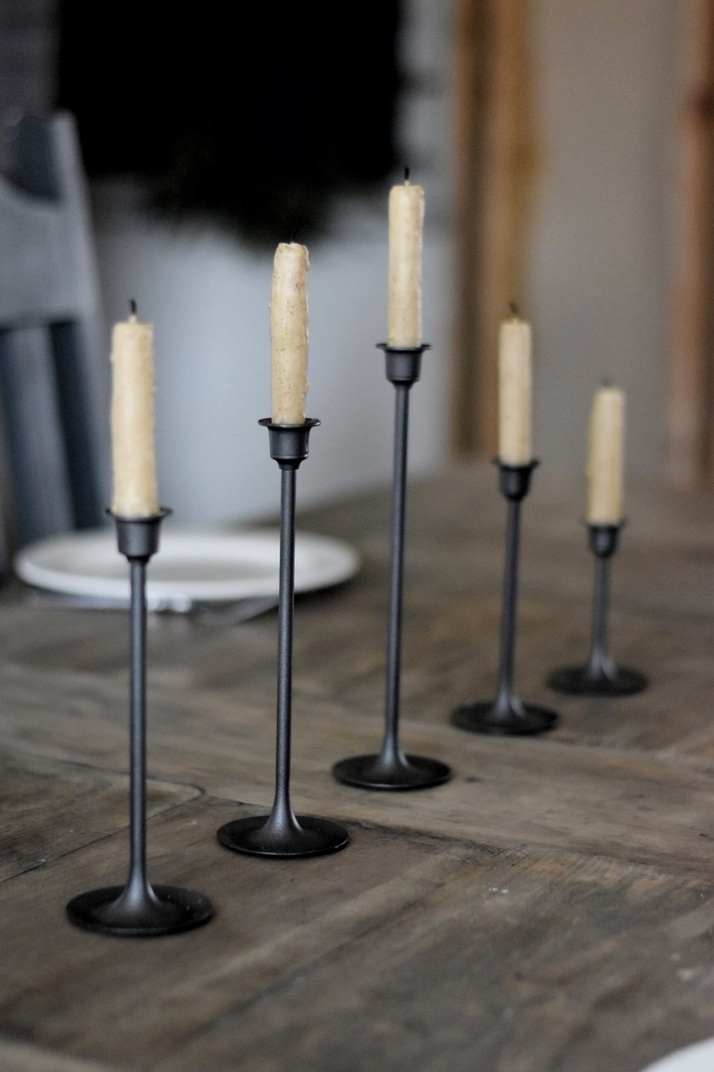 DIY Spray Painted Brass Candle Makeover from the Thrift Store - Rocky Hedge Farm