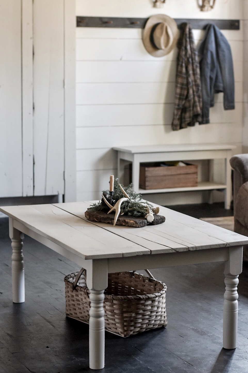 DIY Rustic Farmhouse Coffee Table, Cut Down From a Kitchen Table