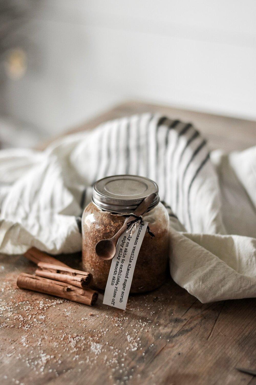 Cinnamon Vanilla Almond Sugar Body Scrub DIY - Why Use a Sugar Scrub | Rocky Hedge Farm