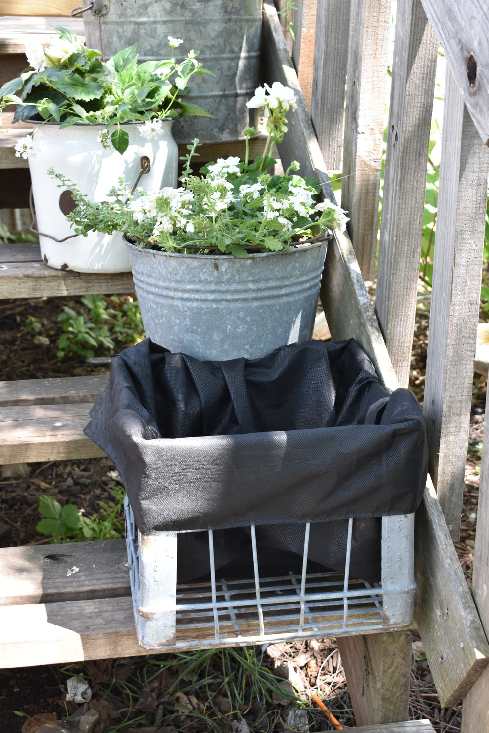 Galvanized Flower Planter | Rocky Hedge Farm
