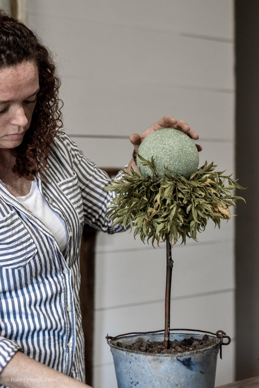 DIY Faux Topiary Tree Tutorial | Rocky Hedge Farm