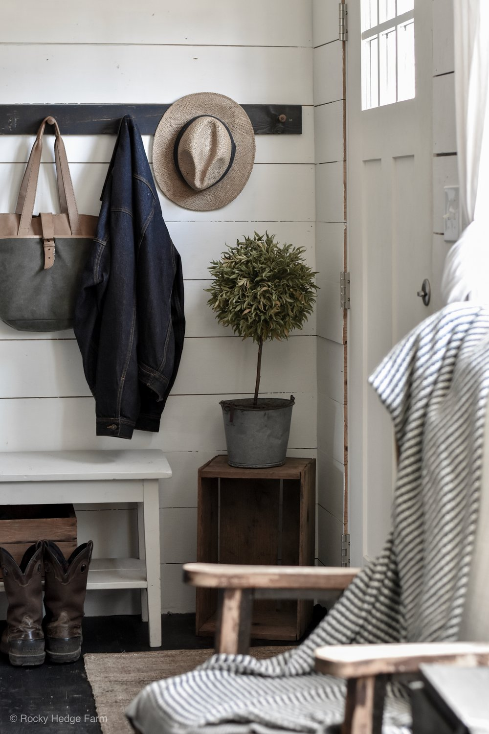 Double Wide Mobile Home Entryway Shiplap Remodel | Rocky Hedge Farm