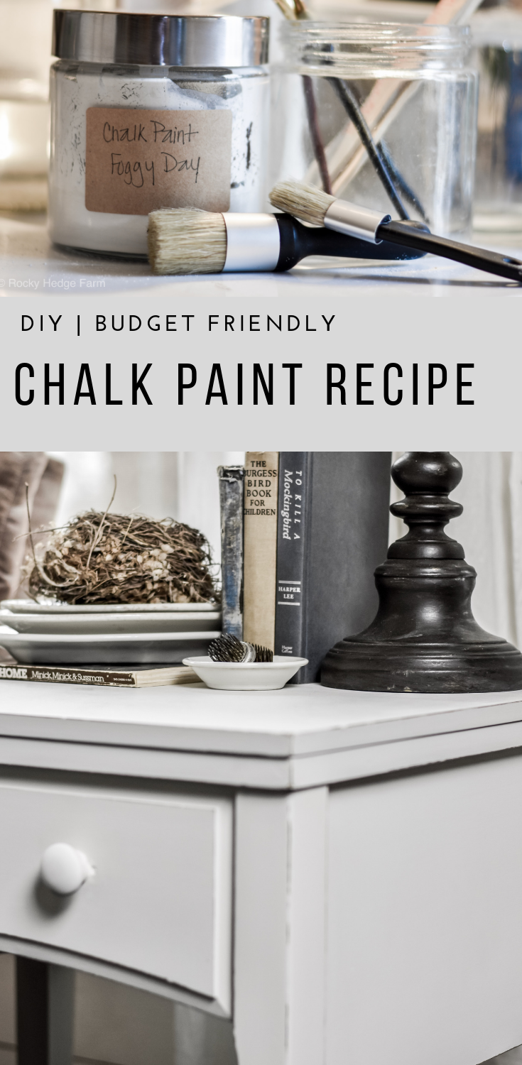 A Simple DIY Chalk Paint Recipe | Plaster of Paris | Flat Latex Paint | How to Make Chalk Paint | Recipe | Rocky Hedge Farm