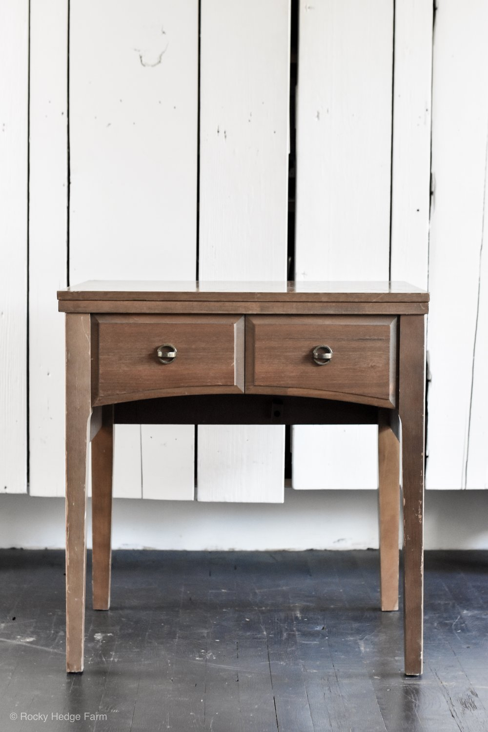 DIY Chalk Paint Sewing Table Makeover  VIntage Sewing Table   End Table Makeover   Rocky Hedge Farm