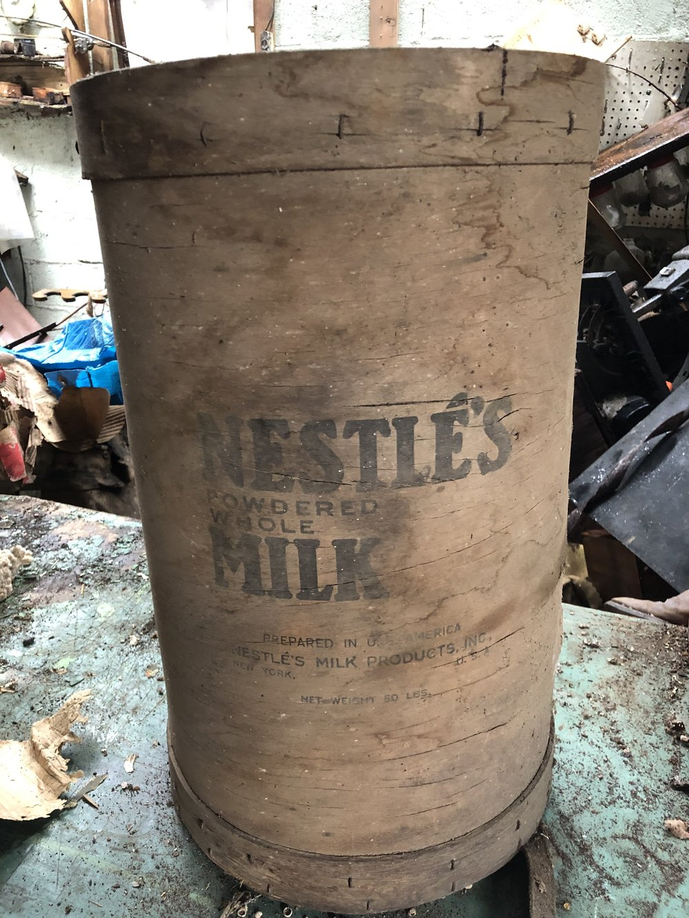 Vintage Nestle Powdered Milk Wood Container