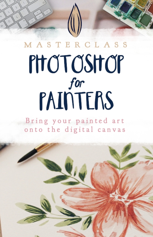 Photoshop for Painters: bring hand painted illustrations into Photoshop for editing, scan paintings, remove background on watercolor, edit painting color.jpg