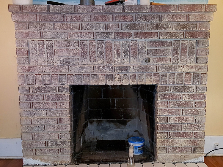 Taking Paint Off A Brick Fireplace Pt 1 Salt Rook