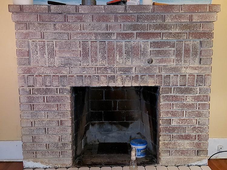 Taking Paint Off A Brick Fireplace Pt 1 Salt Rook
