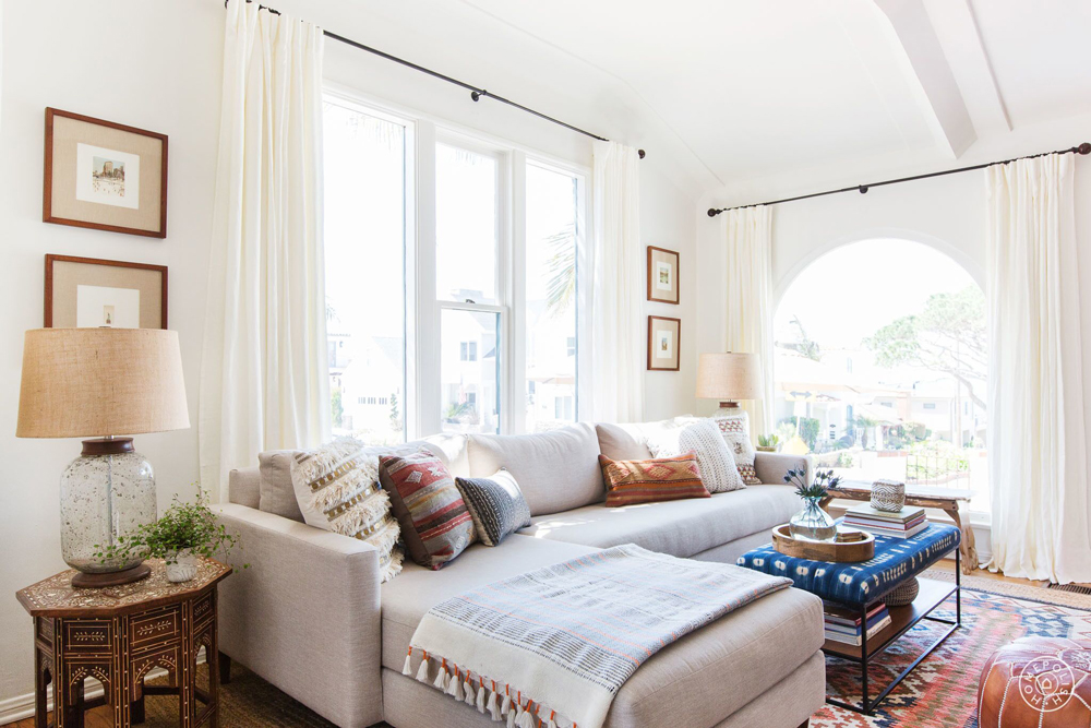 From Homepolish: Crafting a Family-Friendly, Boho Beach Haven in LA