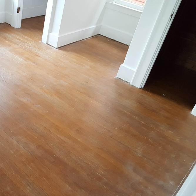 Bedroom floors before