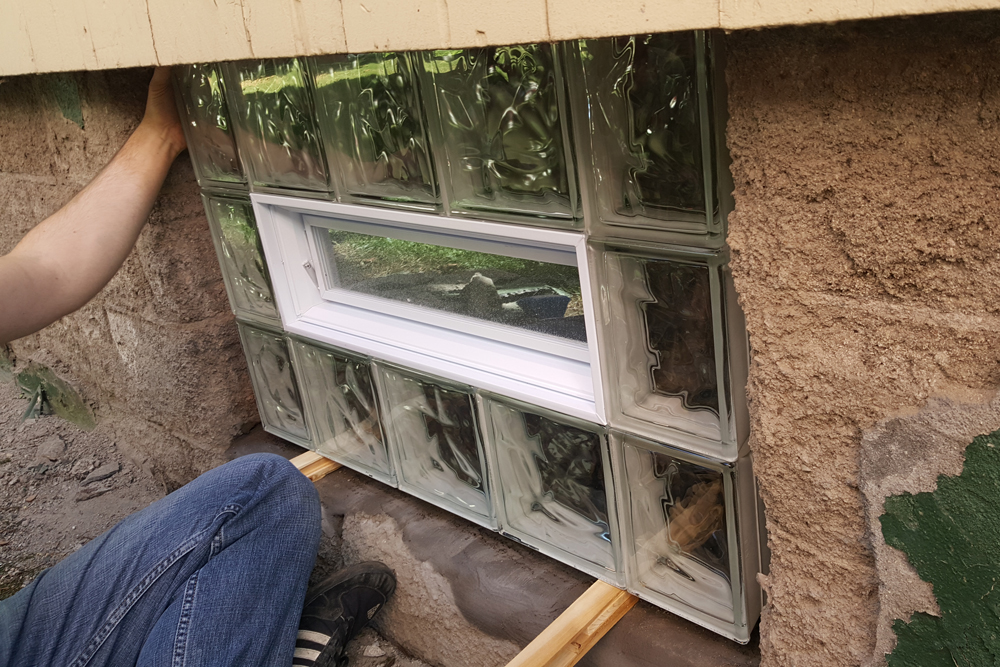 Putting the window in place