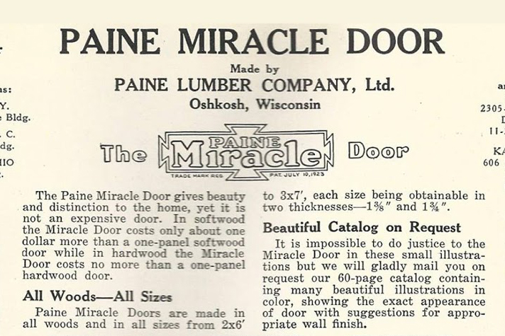 Image from  materials unlimited . Take from a Historic Advertisement: Paine Lumber Company, Ltd.,  Home Builders Catalog,  circa 1923.