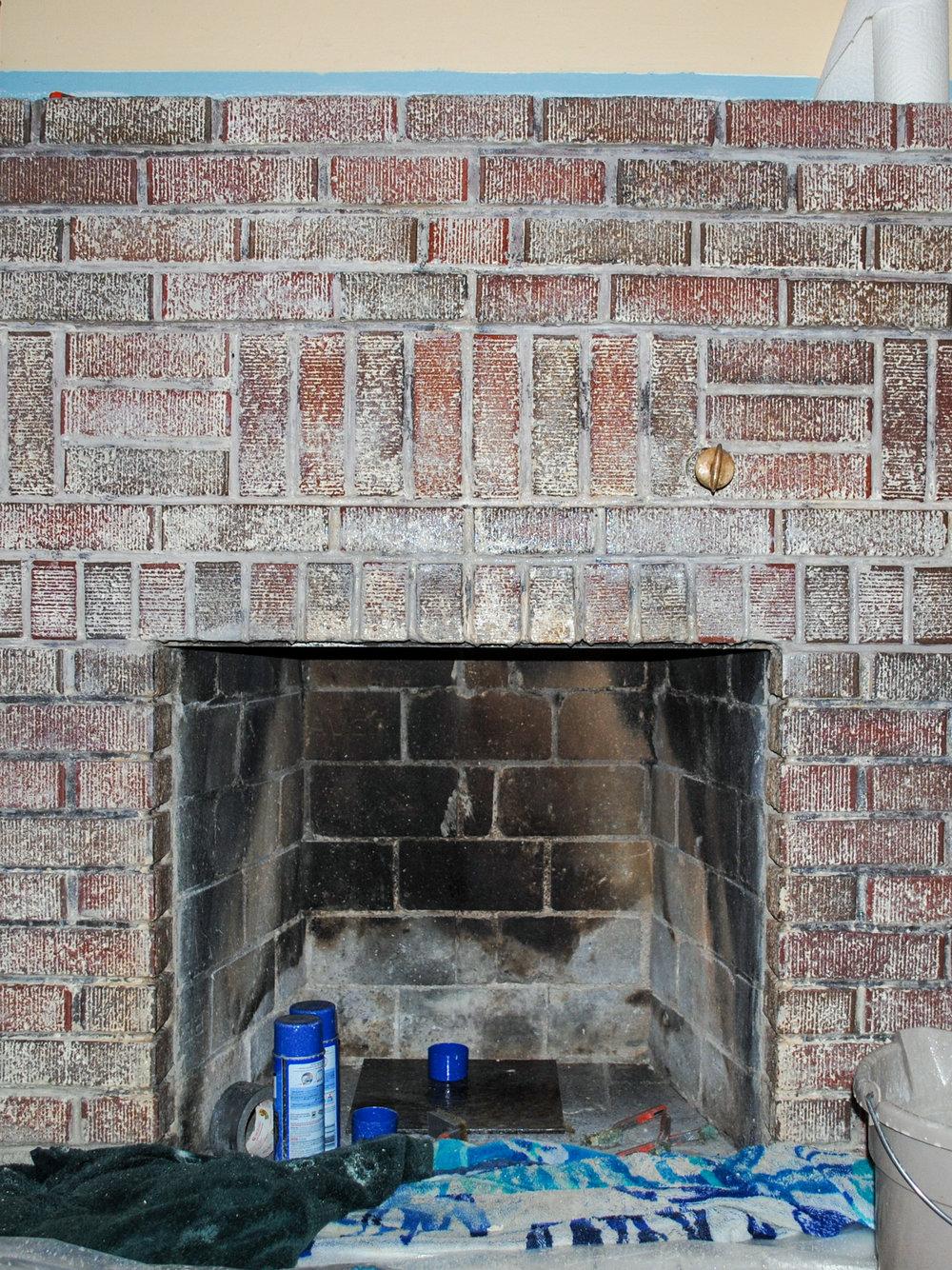 Taking Paint Off A Brick Fireplace Pt 2 Salt Rook