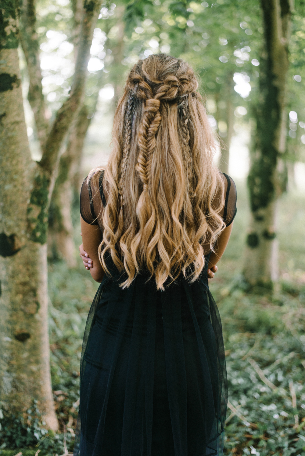 cornwall boho plaits hair