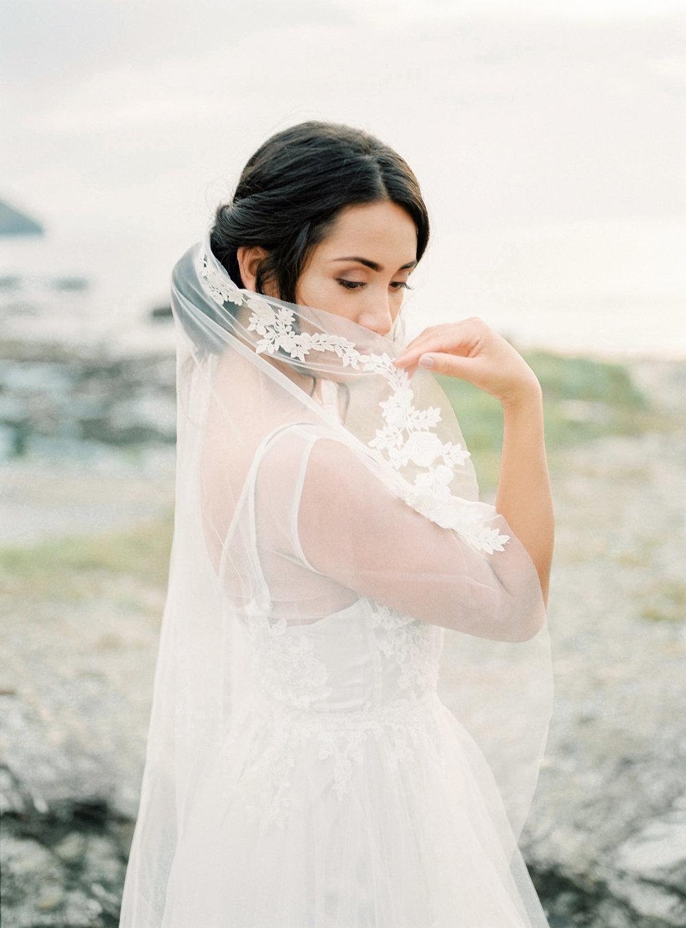 veil for wedding hair cornwall