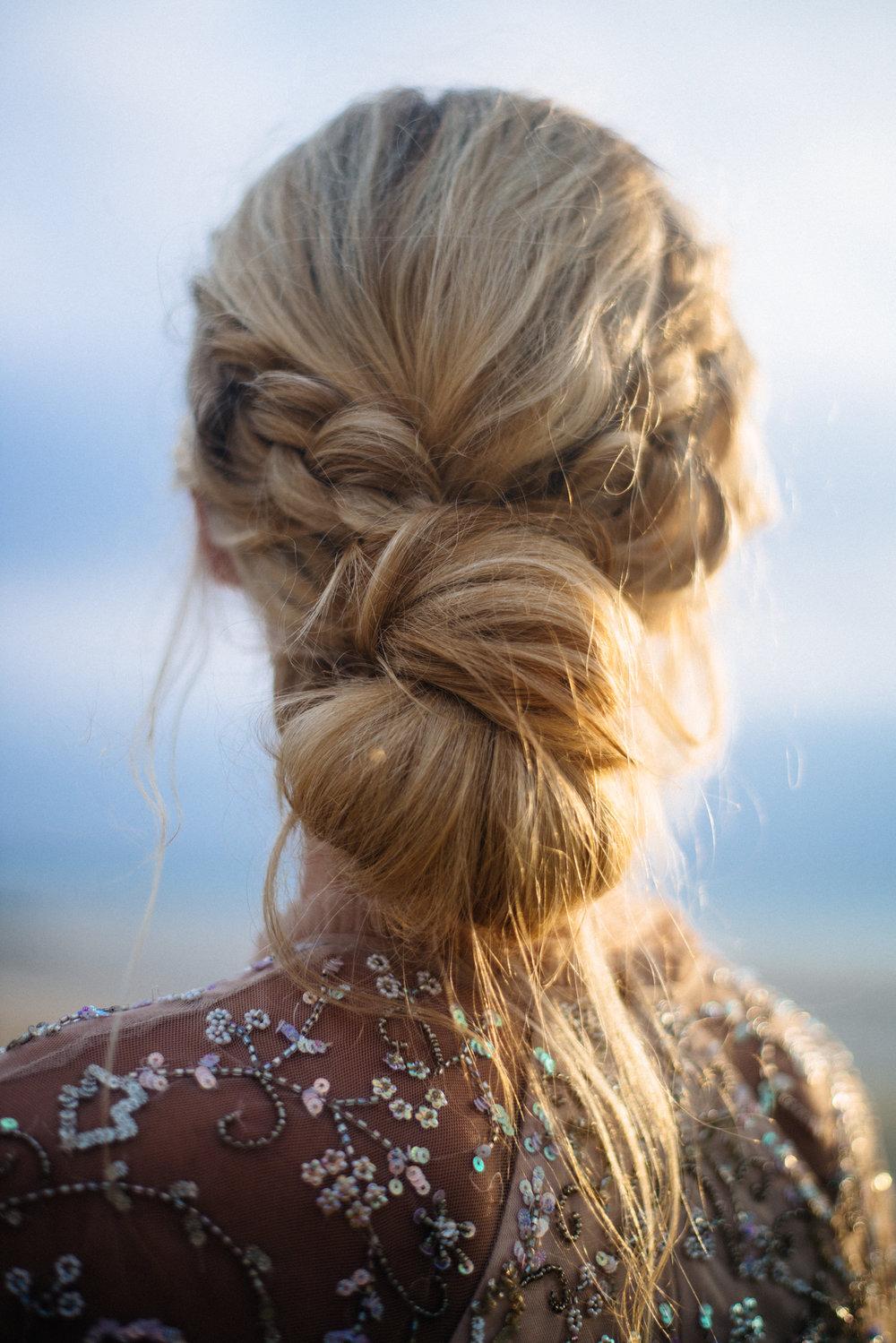 Cornwall wedding hair