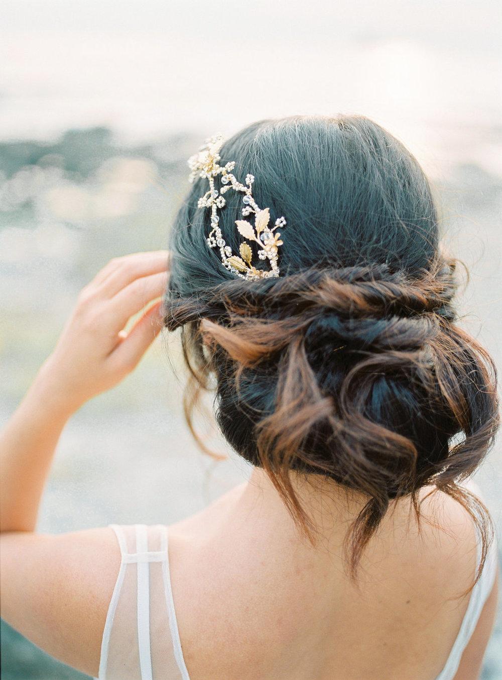 cornwall boho wedding hair
