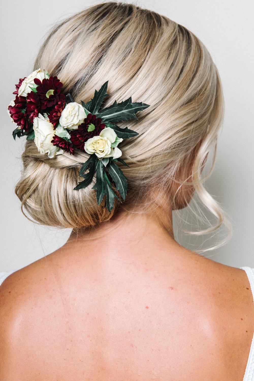 wedding hair flowers florist